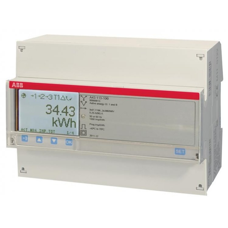 ABB A43 Three Phase 80A Direct Connected Meter Series