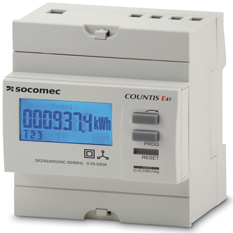 Socomec Countis E40 3 Phase Energy Meter 5a Ct Connected Series