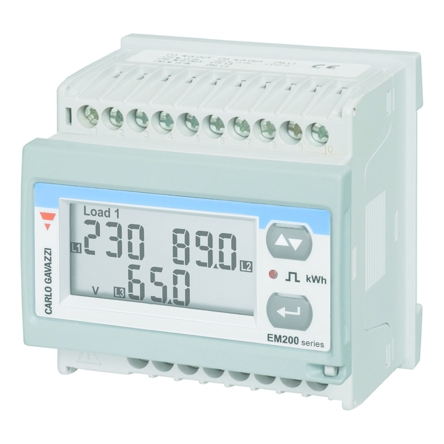 Carlo Gavazz Em210 72v Energy Meter Series Mv How To Wire 3phase Kwh Electrical Technology It Is A Versatile That Can Be Used On All Types Of Supply 1 2 3 Phase
