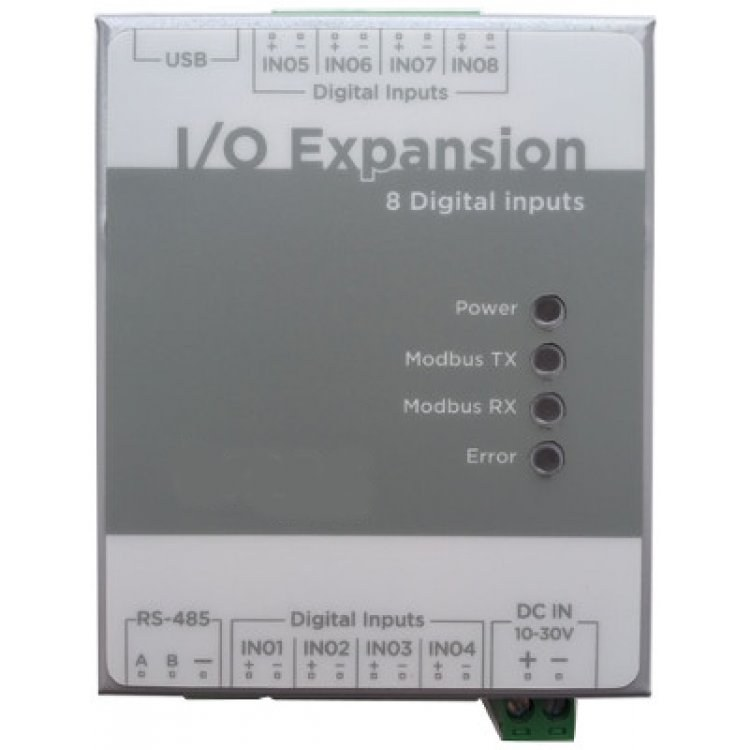Camax I/O Expansion module with 8 Digital Inputs (Pulse to Modbus