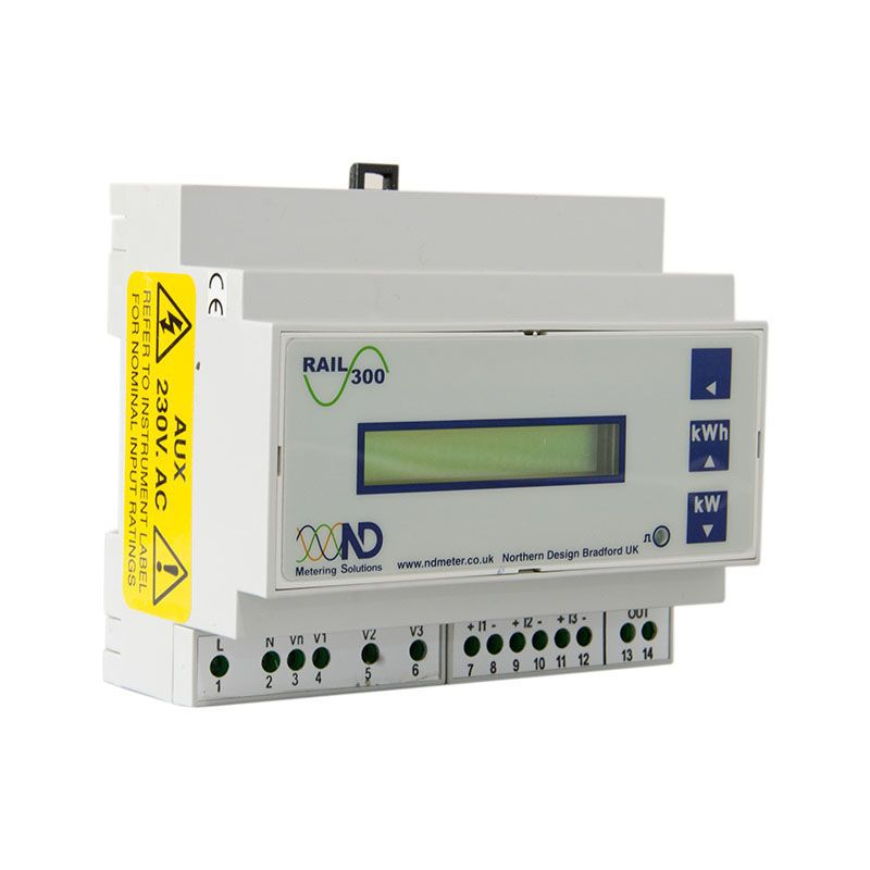 Din Rail Power Meter : Northern design power rail  energy meter with a