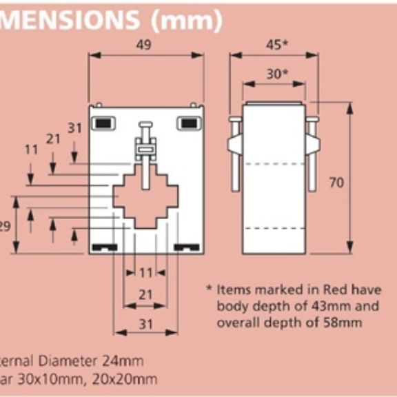 CT143 Dimensions